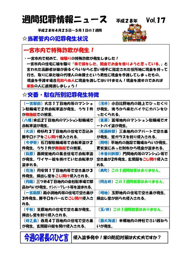 週間犯罪ニュース Vol.17