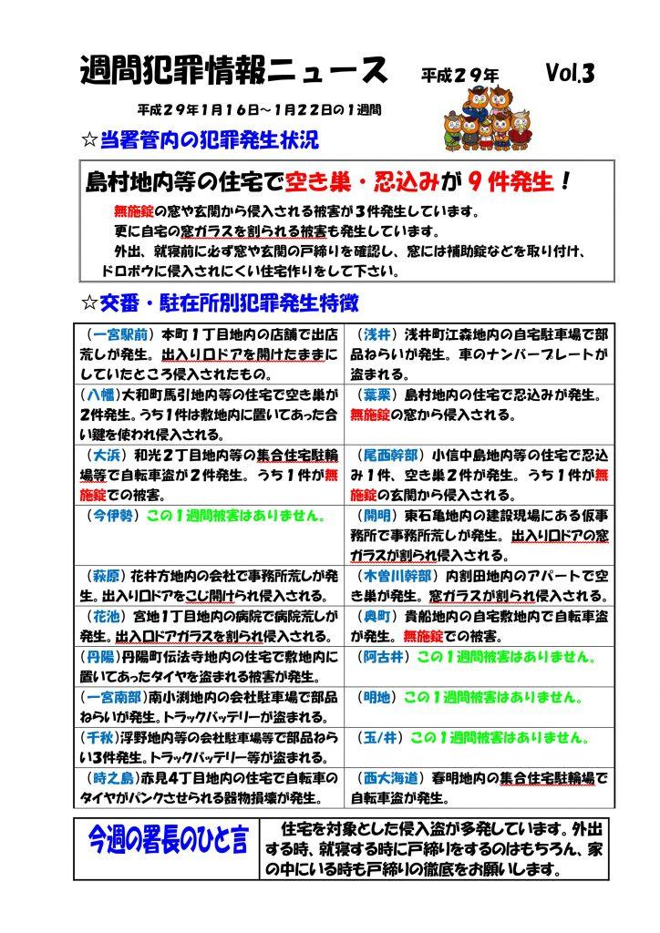 週間犯罪情報ニュース Vol.3