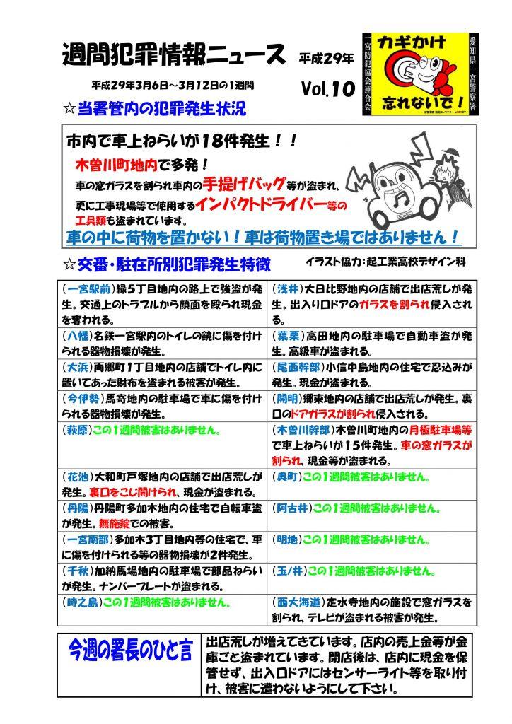 週間犯罪情報ニュース No10
