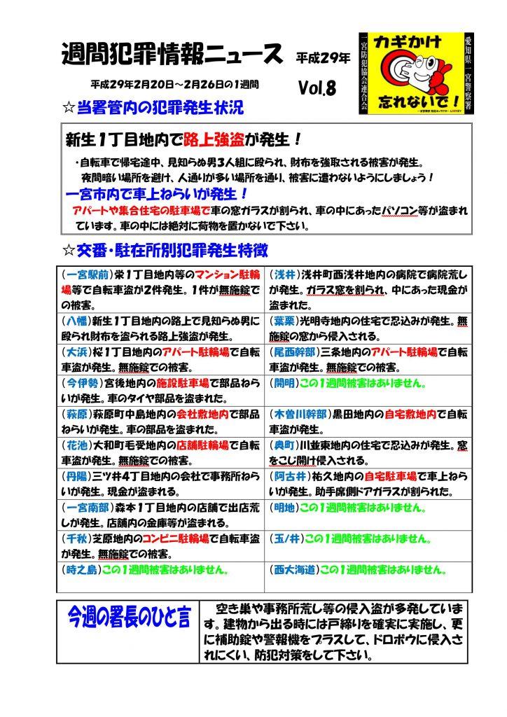 週間犯罪情報ニュース Vol.8