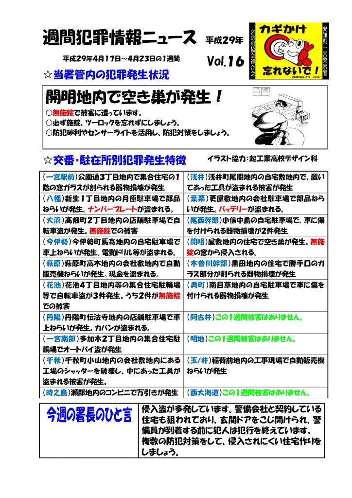 週間犯罪情報ニュース16