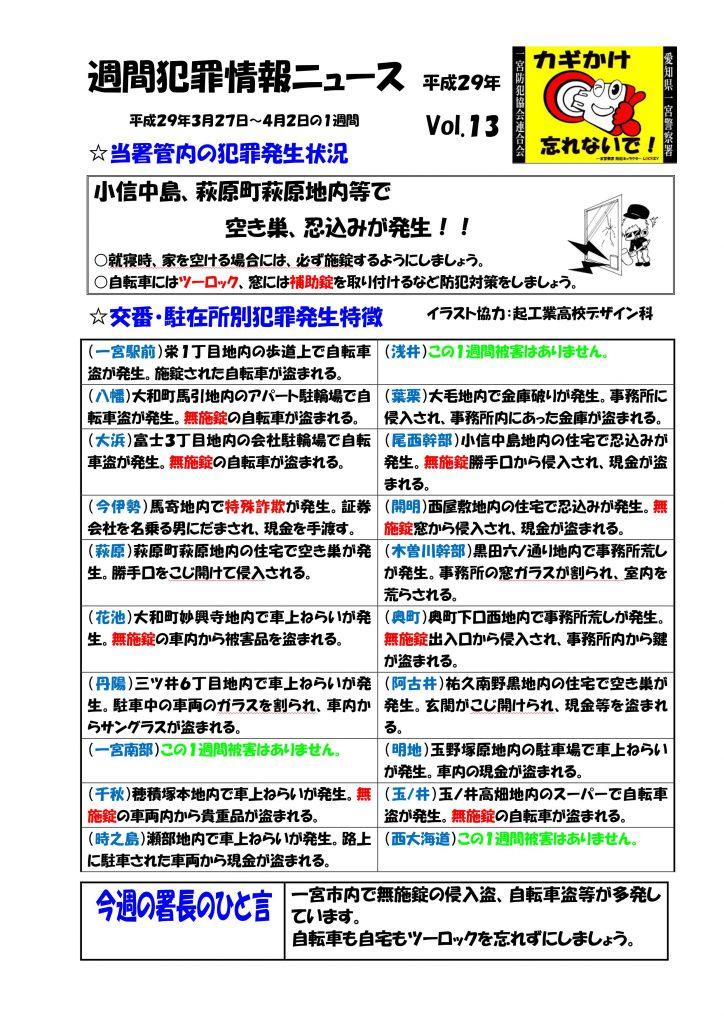 週間犯罪情報ニュース 13