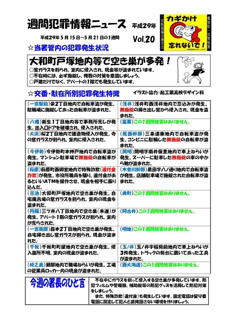 週間犯罪情報ニュース Vol.20