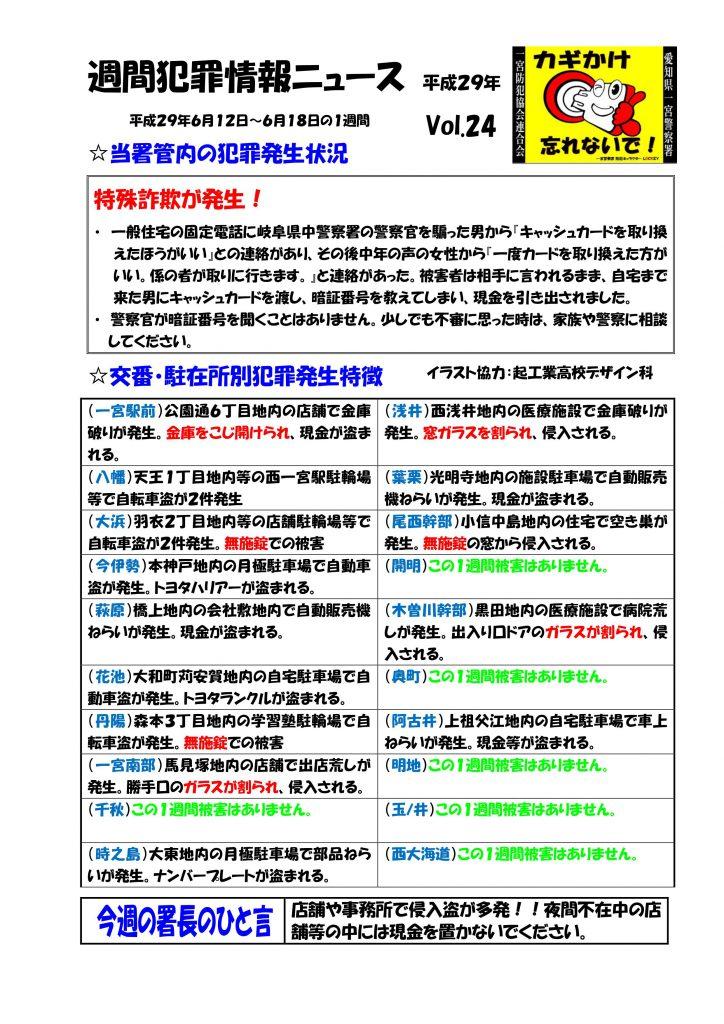 週間犯罪情報ニュース Vol.24