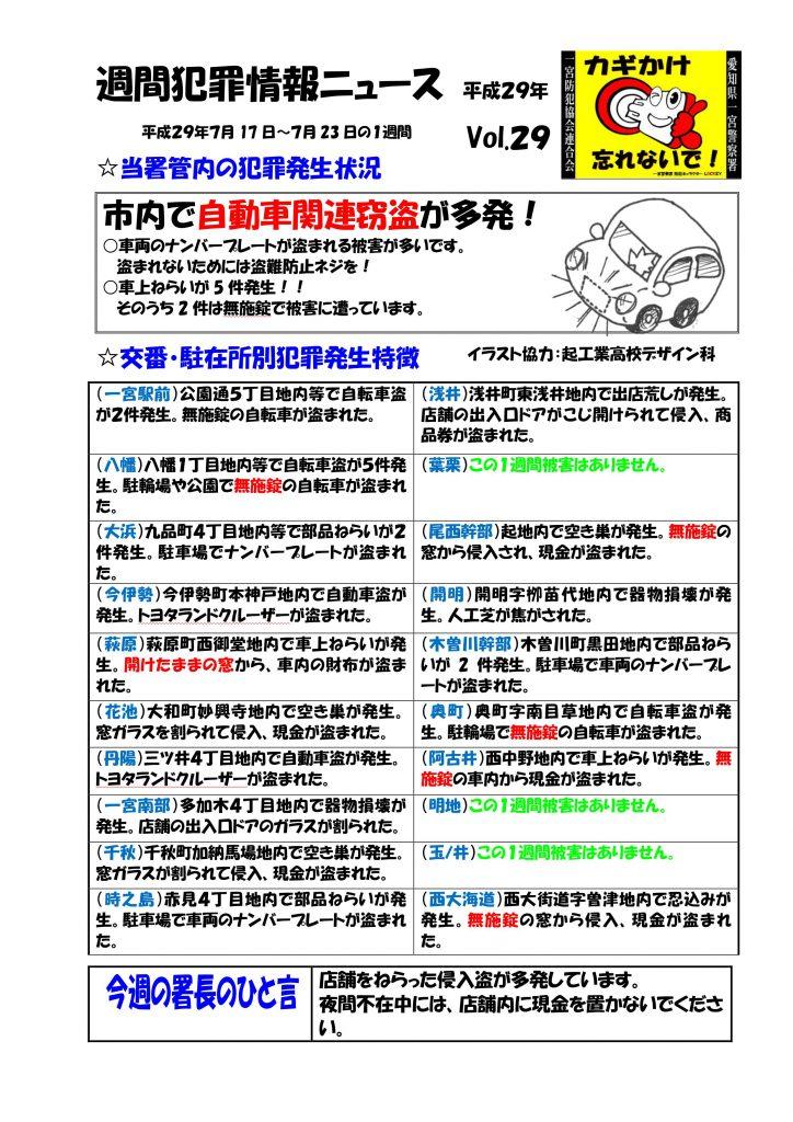 週間犯罪情報ニュース No29