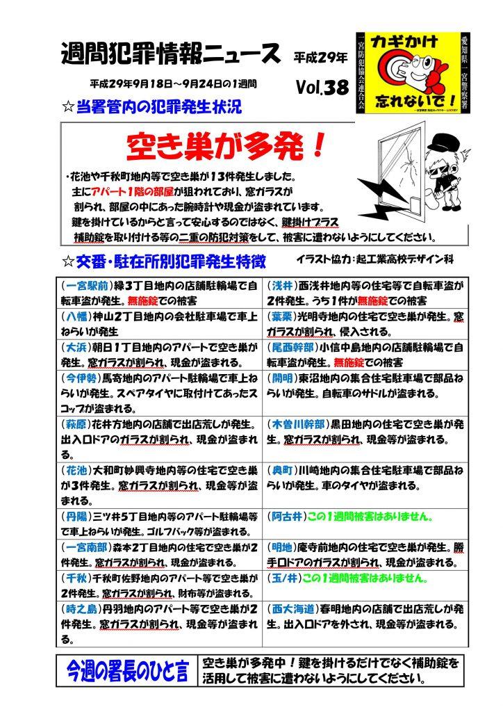 週間犯罪情報ニュース Vol.38
