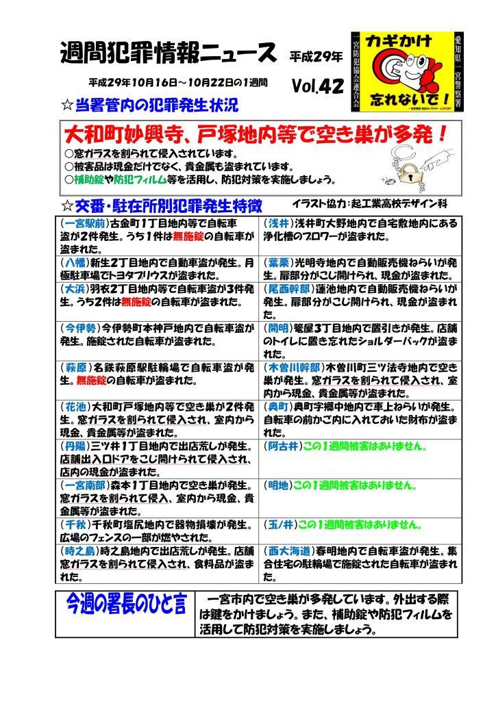 週間犯罪情報ニュース Vol.42