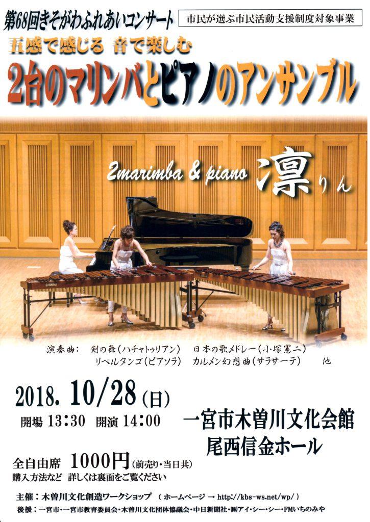 マリンバとピアノのアンサンブル