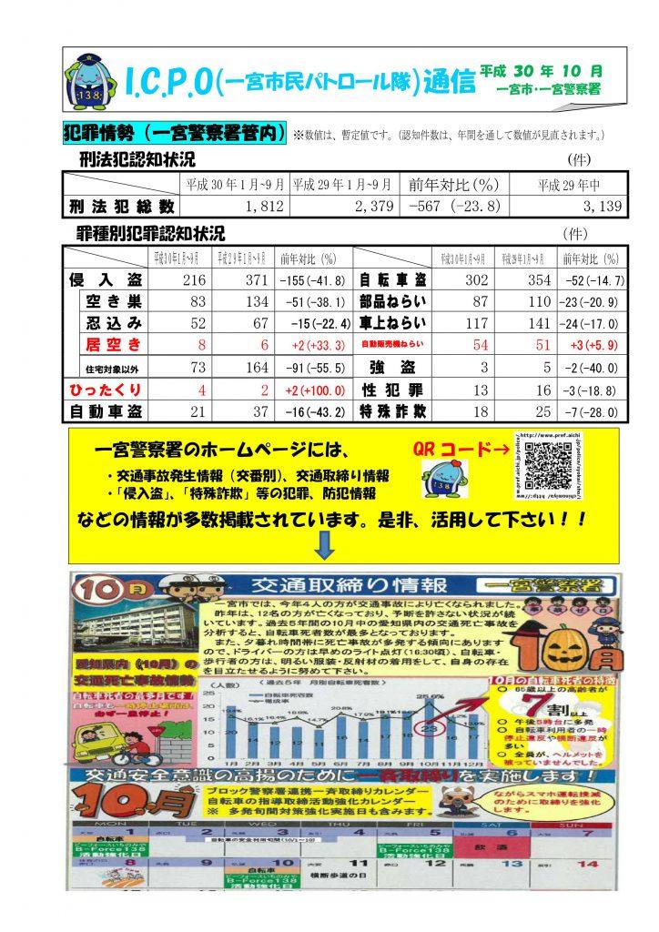 ICPO通信10月